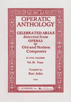 Operatic Anthology: Tenor