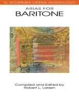 G. Schirmer Opera Anthology: Arias for Baritone
