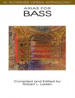 G. Schirmer Opera Anthology: Arias for Bass